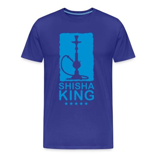 Mannen Premium T-shirt - Shisha king is only for people who smoke shisha the real way.