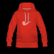 Pullover & Hoodies ~ Frauen Premium Kapuzenpullover ~ Slanted – Art Type / Hoodie Red Rose / Woman