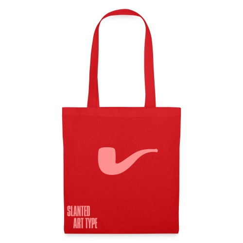 Slanted – Art Type / Red Rose / Totebag - Stoffbeutel