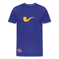 T-Shirts ~ Männer Premium T-Shirt ~ Slanted – Art Type / Blue Yellow / Man
