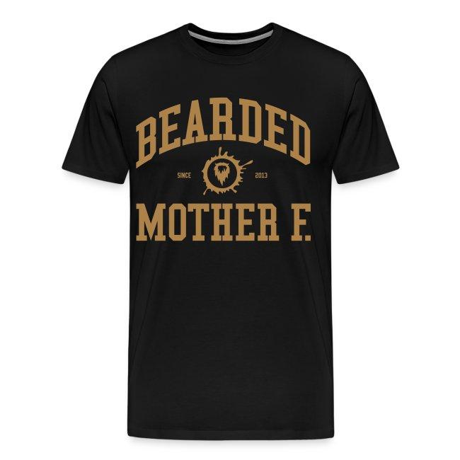 Bearded Mother F. - Men's Shirt (Light brown print)