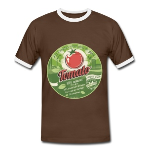 T-SHIRT contraste homme europabio tomato - T-shirt contraste Homme