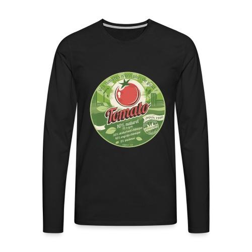 T-SHIRT premium manches longues homme europabio tomato - T-shirt manches longues Premium Homme