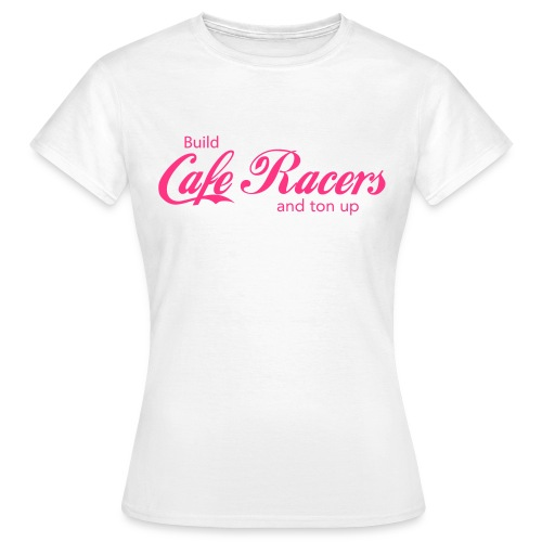 Build Cafe Racers and Ton Up Pink Print Women - Women's T-Shirt