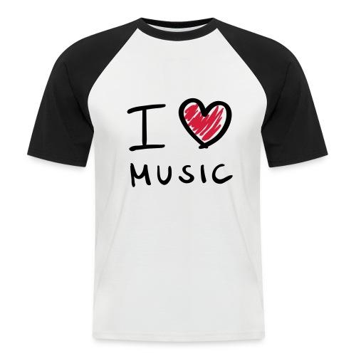 I love music - Kortærmet herre-baseballshirt