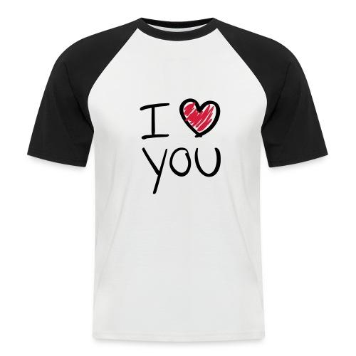 I love you - Kortærmet herre-baseballshirt