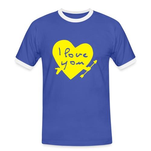 I LOVE - Männer Kontrast-T-Shirt