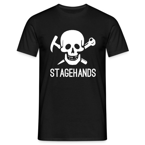 Stagehands Skull - Men's T-Shirt