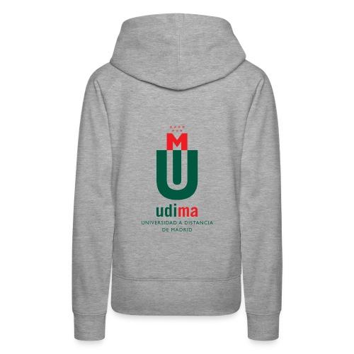Sudadera con capucha mujer UDIMA  - Sudadera con capucha premium para mujer