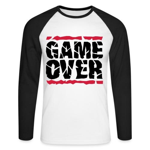 Game Over - Långärmad basebolltröja herr