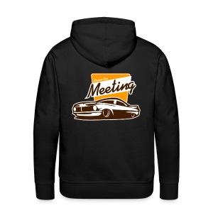 sweater classic car meeting back - Mannen Premium hoodie
