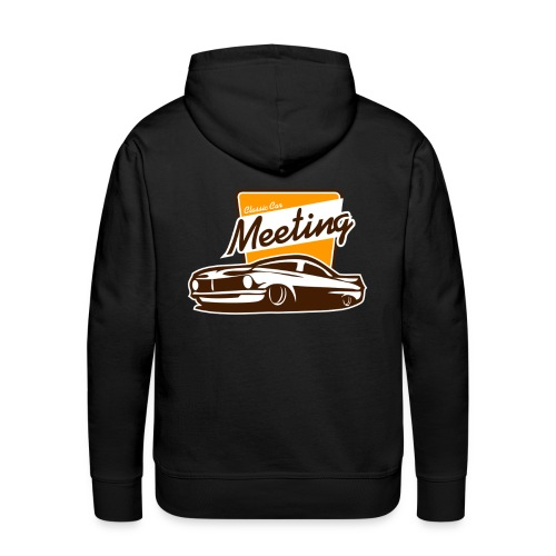 sweater classic car meeting back - Mannen Premium hoodie