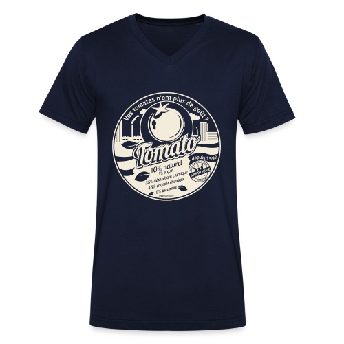 T-SHIRT col V Homme de Canvas europabio tomato - T-shirt bio col V Stanley & Stella Homme
