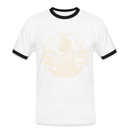 T-SHIRT contraste homme europabio tomato - T-shirt contrasté Homme