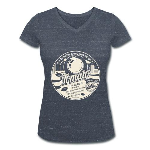 T-SHRT col V femme europabio tomato - T-shirt bio col V Stanley & Stella Femme