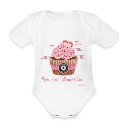 BODY bébé cupcake - Body bébé bio manches courtes