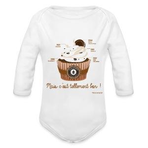 BODY manches longues bébé cupcake - Body bébé bio manches longues