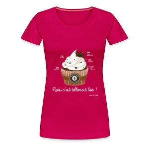 T-SHIRT premium femme cupcake - T-shirt Premium Femme