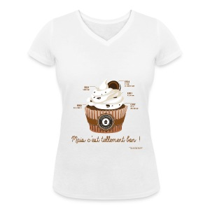 T-SHIRT femme col V cupcake - T-shirt bio col V Stanley & Stella Femme