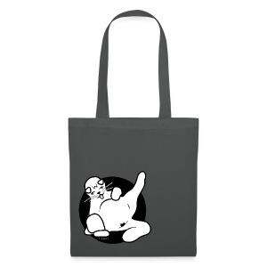 Icon fette Katze sitzend auf Beutel - Stoffbeutel
