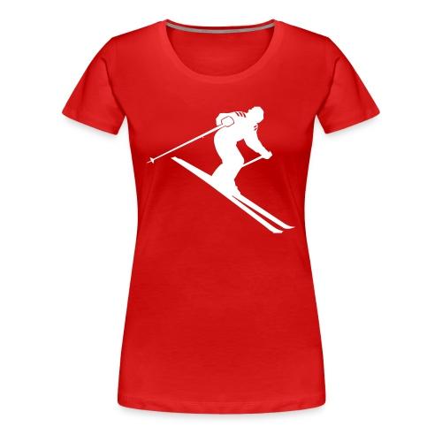 Ski Tshirt - Vrouwen Premium T-shirt