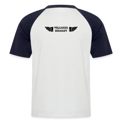 T-Shirt weiß/blau - Männer Baseball-T-Shirt