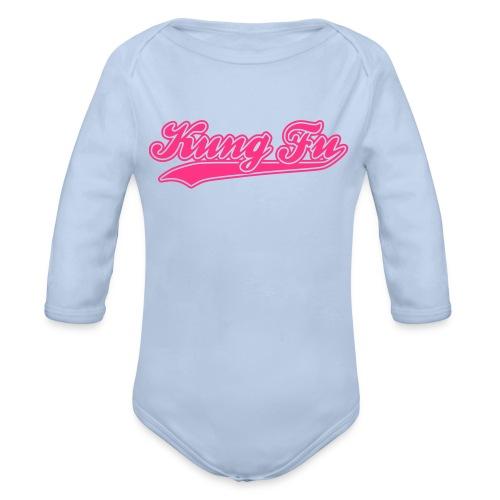 Arsher - Kung Fu Pink - Body bébé bio manches longues