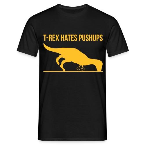 Populair T-shirt T-rex hates pushups - Mannen T-shirt