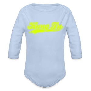Arsher - Kung Fu fluo - Body bébé bio manches longues