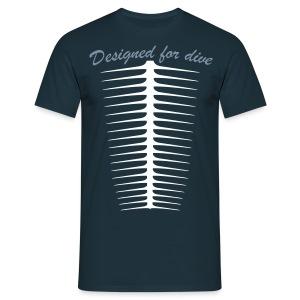 Designed For Dive-Hom- Imp.Flex 2 couleurs+Logo Dos - T-shirt Homme