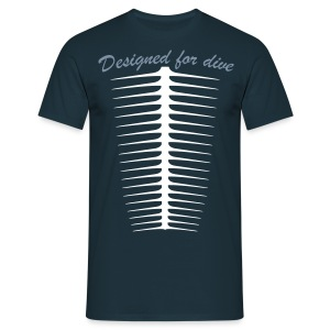 Designed For Dive-Hom- Imp.Flex 2 couleurs+Logo Dos - T-shirt Homme