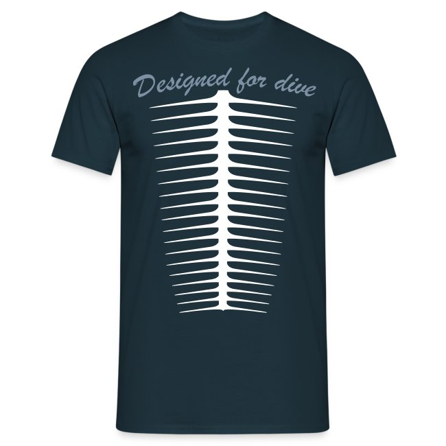 Designed For Dive-Hom- Imp.Flex 2 couleurs+Logo Dos