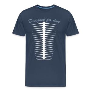 Designed For Dive-Hom- Imp.Flex 2 couleurs+Logo Dos - T-shirt Premium Homme