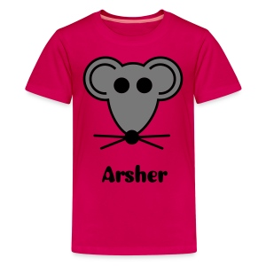 Arsher - Grey Mouse - T-shirt Premium Ado