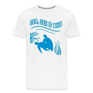 Sea, Sex and Dive-Hom-Imp Flex-Logo dos - T-shirt Premium Homme