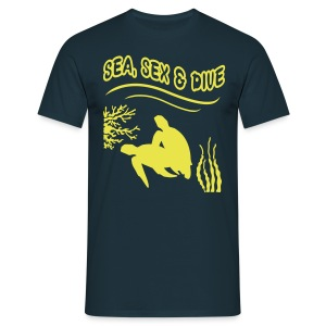 Sea, Sex and Dive-Hom-Imp Flex-Logo dos - T-shirt Homme
