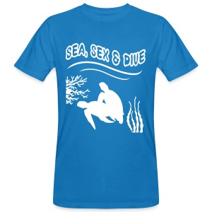 Sea, Sex and Dive-Hom-Imp Flex-Logo dos - T-shirt bio Homme
