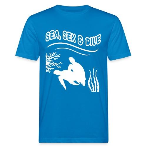 Sea, Sex and Dive-Hom-Imp Flex-Logo dos - T-shirt bio Homme