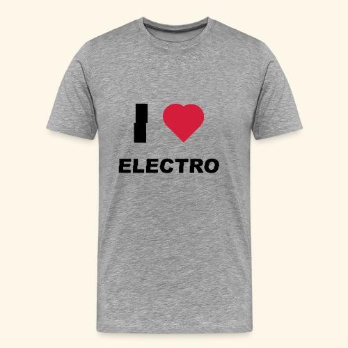 I love Electro music- j'aime l'électro  - T-shirt Premium Homme