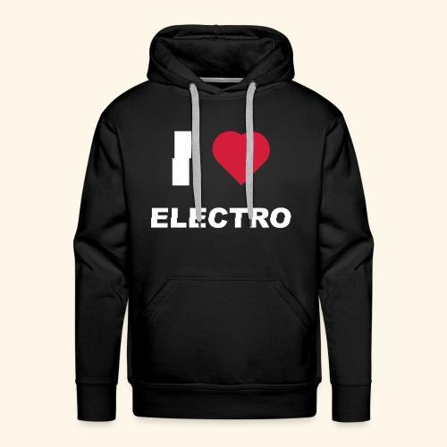 I love Electro music- j'aime l'électro  - Sweat-shirt à capuche Premium pour hommes