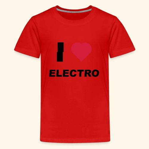 I love Electro music- j'aime l'électro  - T-shirt Premium Ado