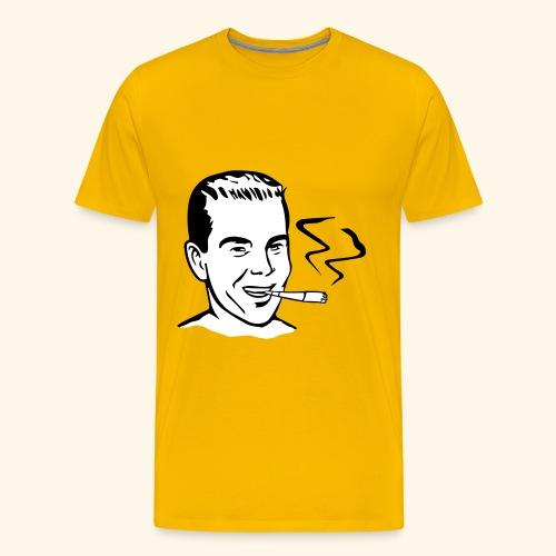 Vintage Retro smoker - T-shirt Premium Homme