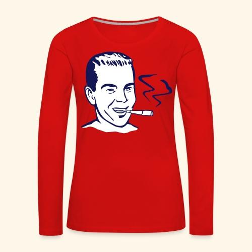 Vintage Retro smoker - T-shirt manches longues Premium Femme