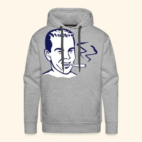 Vintage Retro smoker - Sweat-shirt à capuche Premium pour hommes