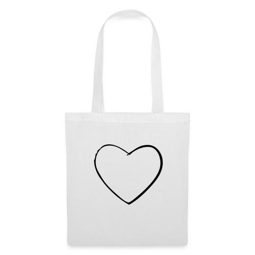 Borsa di stoffa con cuore - Borsa di stoffa