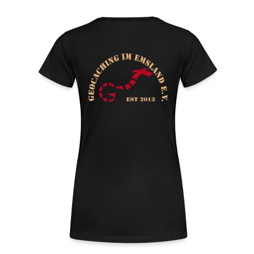 T-Shirt Damen, GiE Logo hinten, Name vorn - Frauen Premium T-Shirt