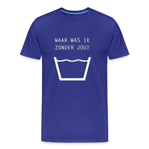 Waar was ik... - Mannen Premium T-shirt