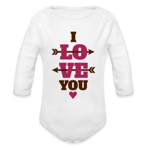 I love you valentinstag, liebe, valentinstag Pullover & Hoodies - Baby Bio-Langarm-Body