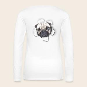 Mops Durchblick Langarmshirt - Frauen Premium Langarmshirt