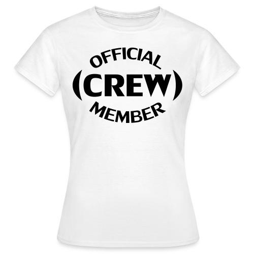 Crew member voorkant - Vrouwen T-shirt